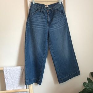 Madewell wide leg cropped jeans
